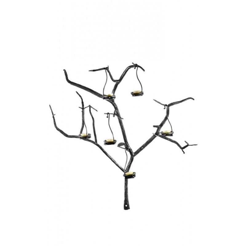 Küünlapuu seinale 6-küünlahoidjaga