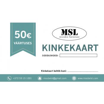 MSL kinkekaart 50€