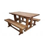 Puutarhapöytä ja penkit 003